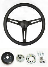 C15 C25 C35 C1500 Jimmy Black on Black Steering Wheel GMC center cap 13 1/2""