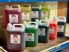 More details for 5l slush syrup slushie ice snow cone drink syrups flavours & colours 5 litre