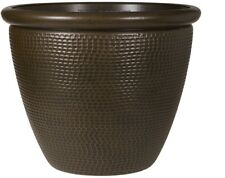 Grosfillex 19.09-in x 15.28-in Bronze Resin Cerritos Planter