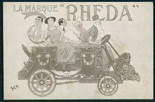 SEM Cleo de Merode & Belgium King Royalty advertiing automobile c1905 postcard