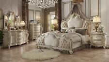 Bett 2x Nachttisch 3 tlg. Schlafzimmer Set Design Luxus Betten Chesterfield neu