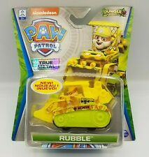 Paw Patrol Jungle Rescue Rubble True Metal Diecast Car Brand New