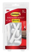Command 051141993133 Large Utility Mega Pack, White, 14-Hooks, 16-Strips