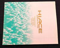 Mint Toyota HI ACE historic 2005 brochures includes Grande