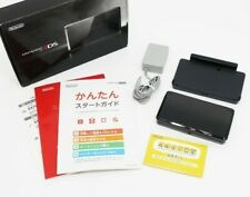 Nintendo 3DS Console Cosmo Black with Box and Charger From Japan [Excellent]