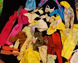 BULK LOT VINTAGE 90s genuine BARBIE CLOTHES 23+ & ACCESSORIES bags shoes GUC