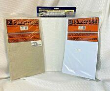 Plastruct -JTT Model Pattern Sheet Lot 91655 Wood Shake 91572 Stucco 97429 Stone