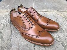 Barker Grant Wing Tip Brogue Shoes Tan Cedar Calf UK 10.5 B.N.I.B