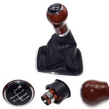 Wood Grain 5 Speed Gear Shift Knob Lever Shifter Gaitor Boot For VW Jetta 02-12