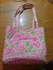 Vera Bradley Petal Pink Bucket Tote Shoulder Bag- Pinks yellow green