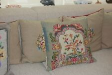 hand worked VINTAGE PETIT POINT/TAPESTRY cushion  complete with pad, Pack 1