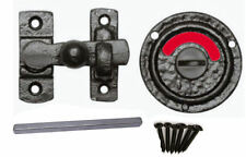 Black Antique Iron Bathroom Toilet Indicator Bolt Vacant Engaged Heavy Door Lock