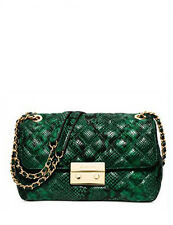 MICHAEL Michael Kors Sloan Large Chain Shoulder Bag Palmetto Green  30H5GSLL3N