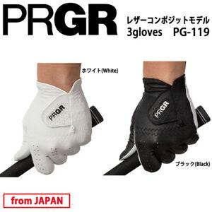 2019 Yokohama PRGR Golf Japan Men's Glove PG-119 Leather composite 3 gloves 19at