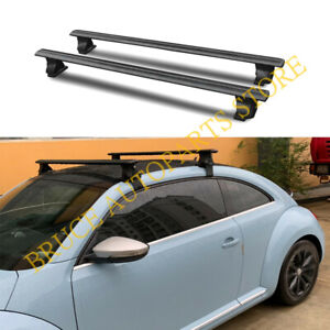 Black Alloy Baggage Carrier Top Roof Racks Set For Volkswagen Beetle 2004-2016