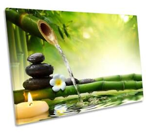 Green Zen Stones Bamboo CANVAS WALLART DECO LARGE READY TO HANG all sizes