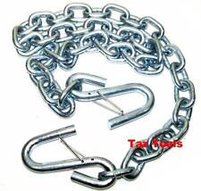 """1/4""""x4ft Trailer Safety Chain with S-Hooks Safety Latches Towing Hitch Pulling"""