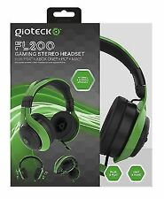Gioteck Fl-200 Wired Stereo Headset for Ps4 Xbox One PC Green