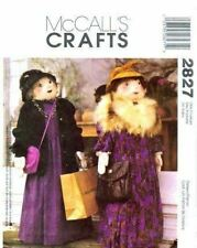 McCalls Sewing Pattern 2827 4' Tall Shopper Doll Craft One Size