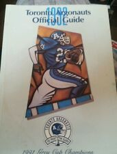 CFL Football Media Guide Toronto Argonauts 1992 Grey Cup winner 1991