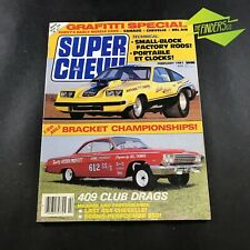 "VINTAGE FEB 1981 ""SUPER CHEVY"" MAGAZINE USA CAMARO CHEVELLE BEL-AIR SMALL BLOCKS"