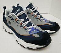Skechers Dlites Navy Shoes Memory Foam Sport Comfort Train Walk 52675 Men's 11
