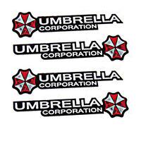 4* Resident Evil Umbrella Car Sticker PET Graphic Zombie Auto Decal Motor Emblem