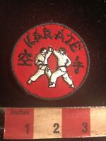 Black And White On Red KARATE Martial Arts Patch 01RN