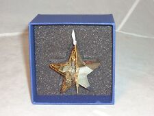Swarovski, Christmas Ornament Star-Golden Shadow, #1140008, Retired, New, Mib