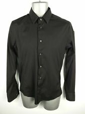 MENS ZARA BLACK BUTTON UP LONG SLEEVED SUPERSLIM FIT SMART/CASUAL SHIRT M MEDIUM