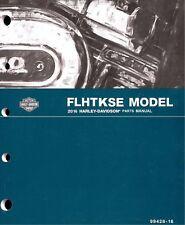 2016 Harley FLHTKSE CVO Ultra Limited Electra Glide Parts Manual Catalog 9942816