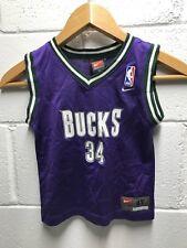 Vintage Ray Allen Milwaukee Bucks Nike Jersey Toddler Size 4T