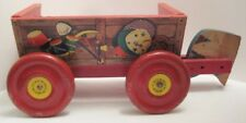 Old Roy Rogers Prospect Wagon by NN Hill Brass Co Pull Toy - Wheel Parts - Wood