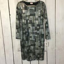 LuLaRoe Dress S Small New Black Silver Metallic Debbie Work Wear Church Casual