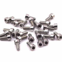 2 PCS M5x12mm Stainless Steel Bike Water Bottle Cage Allen Key Bolt Screws