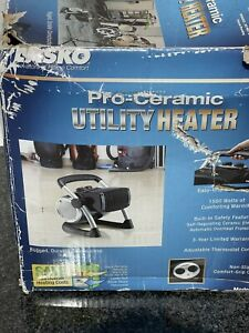LASKO PORTABLE PRO CERAMIC UTILITY PIVOT SPACE HEATER FAN 5919 ,1500 Watts!!!