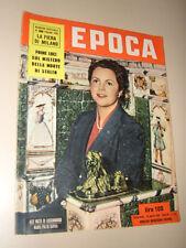 EPOCA=1953/132=LUIGI POLETTI PONTREMOLI=CIRCO TOGNI=EDITH PIAF=PORTOFINO=SAVOIA
