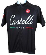 "Castelli Cafe Italian M Med 39""C 2016 Tour Black Cycling Jersey Shirt Pockets"