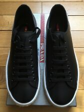 Brand New Mens Prada Leather Casual shoes Uk Size 10 Black Colour
