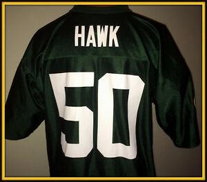 VINTAGE GREEN BAY PACKERS A. J. HAWK ADULT XLARGE NFL TEAM APPAREL JERSEY