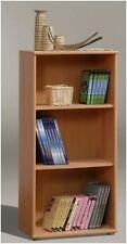Tempra Short Narrow Bookcase Shelves Shelving Storage Unit Beech Effect KR50-127