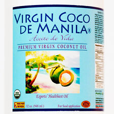 Organic 100% Virgin Coconut Oil Manila Coco CLEAN LABELfresh NUTRIENT DENSE 32oz