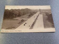 Old Postcard The Gardens Hampton Court Palace