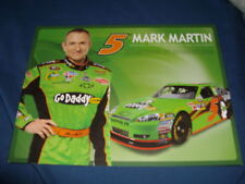 2011 MARK MARTIN #5 GO DADDY.COM NASCAR POSTCARD