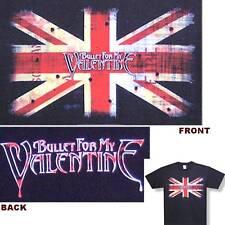BULLET FOR MY VALENTINE! UK FLAG BLACK T-SHIRT XL NEW!