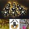 Solar Power 20LED String Light Hollow Christmas Tree Outdoor Party Decor Lamp