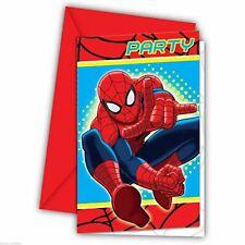 6 Marvel Ultimate Spiderman Birthday Party Invites Invitations plus Envelopes