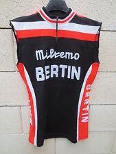 VINTAGE Maillot cycliste MILREMO BERTIN Tour de France cycling jersey S 70's