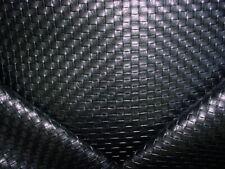 13-1/2Y Kravet Olia Black Faux Leather Basketweave Vinyl Upholstery Fabric