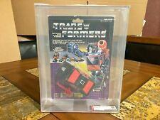 TRANSFORMERS HASBRO G1 CANADIAN RUNABOUT BATTLECHARGER 1986 NEW AFA 80 RARE!